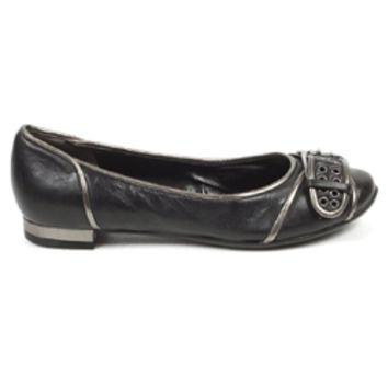 Nine West Womens Heeled Ballerina NWALYN BLK PEWTER