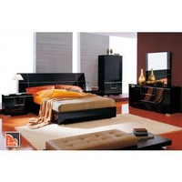 Siena - Made in Italy Modern Black Bedroom Set