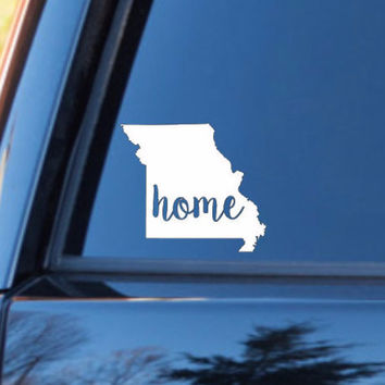 Missouri Home Decal | Missouri State Decal | Homestate Decals | Love Sticker | Love Decal  | Car Decal | Car Stickers | 117