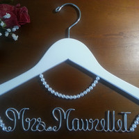 Bridal Hanger with Necklace,wedding dress, wedding gift,wedding photography,wedding ideas,wedding pictures,wedding bride,wedding anniversary