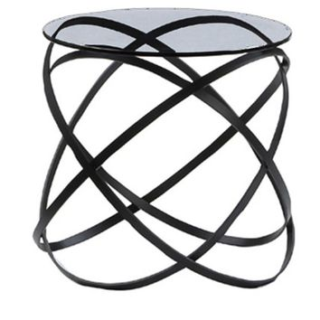 Infinity side table 10mm clear glass top