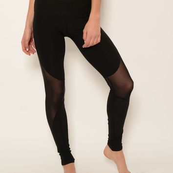 Ana Zabella Black Mesh Active Pant (with accessory pocket)