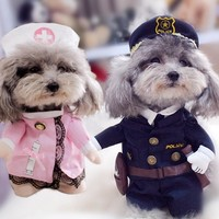 Creative Dog Clothes for Small Dogs Clothing Funny Dog Costumes Dog Coats Jackets Christmas Yorkies Chihuahua Clothes 11bY20