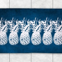 Indigo Pineapples Accent Rug