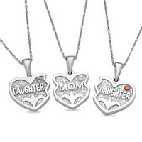 Mother Daughter 3 Hearts Pendants in Silver 3 by NaomisCo2 on Etsy