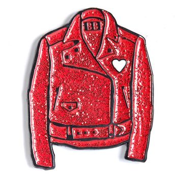 Red Leather Jacket Pin