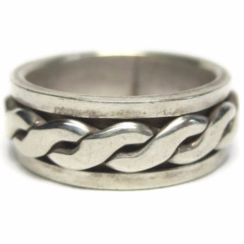 Vintage 90s Spinner Band Ring Sterling Size 7