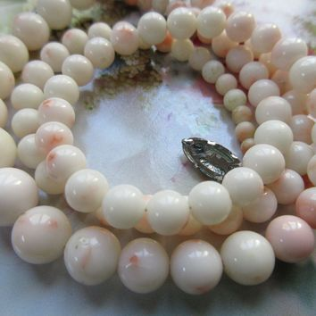Vintage Angel Skin Coral Necklace