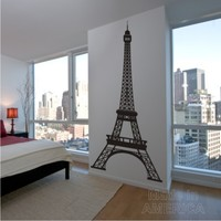 Wall Decal - 8 Foot Tall Eiffel Tower