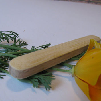 Wood Baby Rattle, All natural bamboo and red oak.