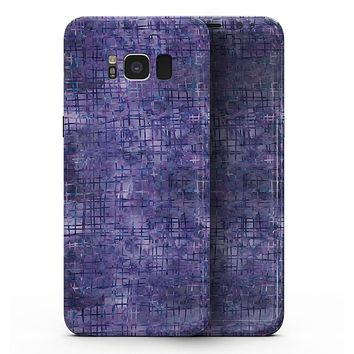 Indigo Watercolor Cross Hatch - Samsung Galaxy S8 Full-Body Skin Kit