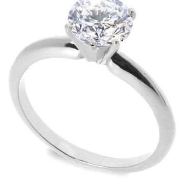 Sterling Silver CZ 1 carat Engagement Ring size 5-10