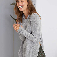 Aerie Real Soft® Legging Hoodie, Dark Heather