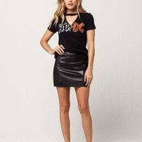 IVY + MAIN Faux Leather Mini Skirt