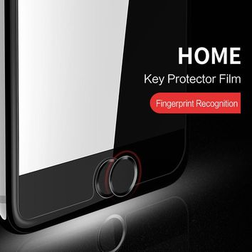 New!!! Aluminum Touch ID Home Button Sticker for iPhone 8 5S /6/6S/ 7 iPad Support Fingerprint Unlock Touch key Protect Stickers
