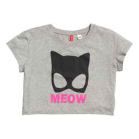 Meow Cropped Top
