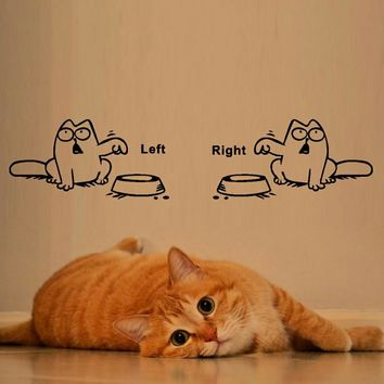 Funny Cat Need FoodWall Sticker