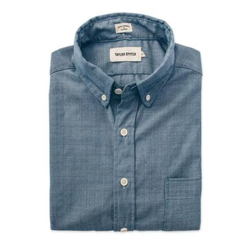 The Short Sleeve Jack in Blue Merino 4S Chambray