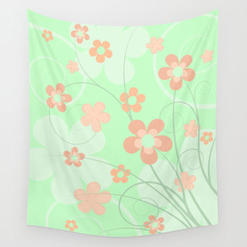 Spring floral Wall Tapestry by EDrawings38