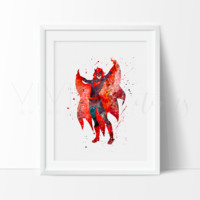 Batwoman Watercolor Art Print