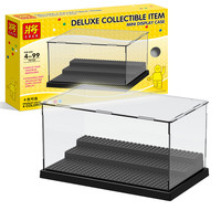 Original Box Blocks Parts Acrylic Transparent Accommodator Display Box Minifigures Showcase Ladder Cabinets CompatibleWith Legoe