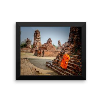 Monk City Framed photo paper poster