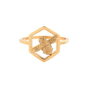 Olivia Burton Honeycomb Bee Ring | Nordstrom