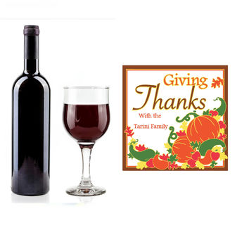 Personalized Bottle of Wildcatter Cabernet Sauvignon - Fall Pumpkins