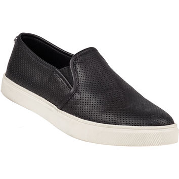 Steve Madden Ezeke Perforated Slip-On Sneaker Black - Jildor Shoes, Since 1949
