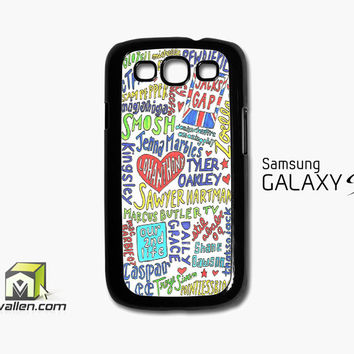 Collage Youtubers Art Samsung Galaxy S3 Case Cover by Avallen