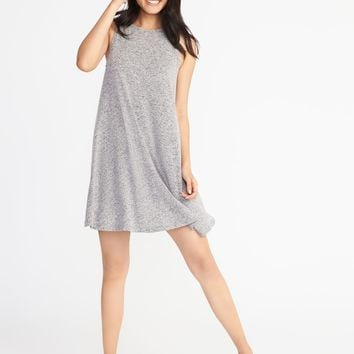 Plush-Knit Sleeveless Swing Dress for Women |old-navy