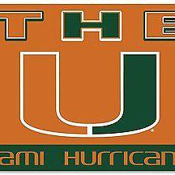 """Miami Hurricanes """"THE U"""" 95131 3x5 Flag w/grommets House Banner University of"""
