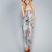 Soft Gypsy Print Jumpsuit | Wet Seal