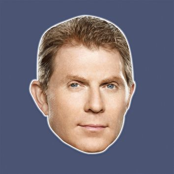 Serious Bobby Flay Mask - Perfect for Halloween, Costume Party Mask, Masquerades, Parties, Festivals, Concerts - Jumbo Size Waterproof Laminated Mask