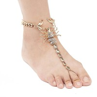 Scorpion Ankle Bracelet