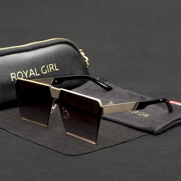 Royal Girl Designer Sunglasses Vintage Retro Metal Oversize