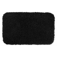 "Serenity Washable Black Bath Rug (2'6"" x 4'2"")"
