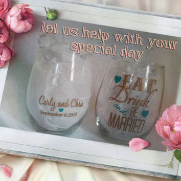 Bridal Wine Glass Decal for the DIY in you