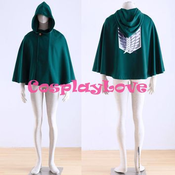 Cool Attack on Titan High Quality Stock Japanese Anime  (no ) Survey Corps Cloak Cape Cosplay Costume CosplayLove AT_90_11