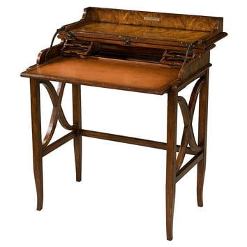 Theodore Alexander, Brooksby's Leather Campaign Desk, Brown, Writing Desks