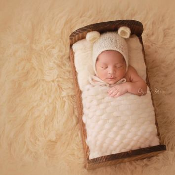 (45x40cm) Handcraft Acrylic Blanket Basket Stuffer Filler Newborn Baby Photography Backdrops Photo Studio Props Shower Gift