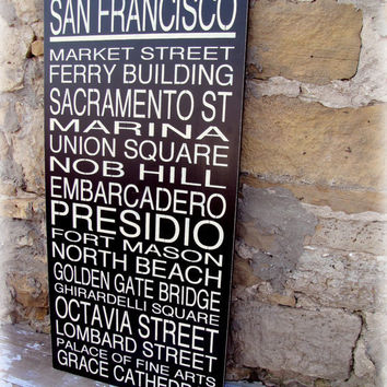 SAN FRANCISCO Subway Story Sign Subway Scroll