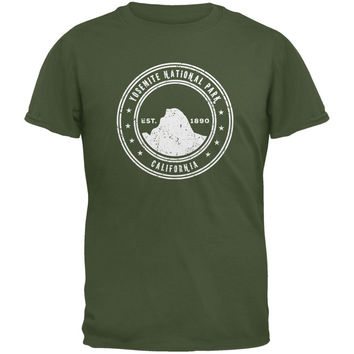 Yosemite National Park Military Green Youth T-Shirt