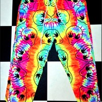 SWEET LORD O'MIGHTY! TIEDYE STONER ALIEN SWEATPANTZ