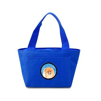 Blue Pomeranian  Lunch Bag or Doggie Bag LH9395BU