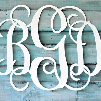His and Her Initials, 3 Letter Monogram, Wedding Decor, Wedding Gift, Wedding Guest Book, Nursery Decor, Wedding Initials , Wedding Sign