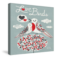 Love Birds Canvas Wall Art