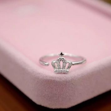 Personalized zircon king crown 925 Sterling Silver ring ,a perfect gift