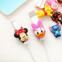 Cartoon Cable Cord Protector For:: Cable iPhone 4 4S 5 5S SE 5C 6 6S 7 7 Plus