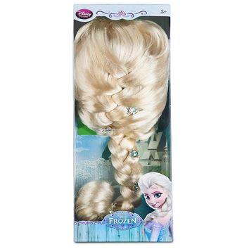 Licensed cool FROZEN ELSA Girls Blonde Costume Pretend Dress Up Long Braid WIG DISNEY STORE